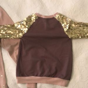Kate Mack Matching Sets - Kate Mack sequined sleeve top and pants